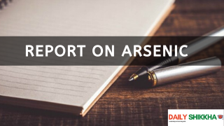 Report on Arsenic
