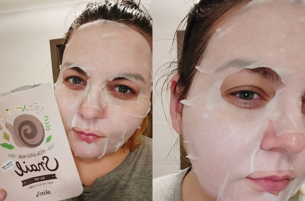 Skin79, Snail Mask - maska w płachcie z filtratem ze śluzem ślimaka