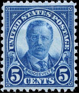 1927 5c Theodore Roosevelt, Dark Blue