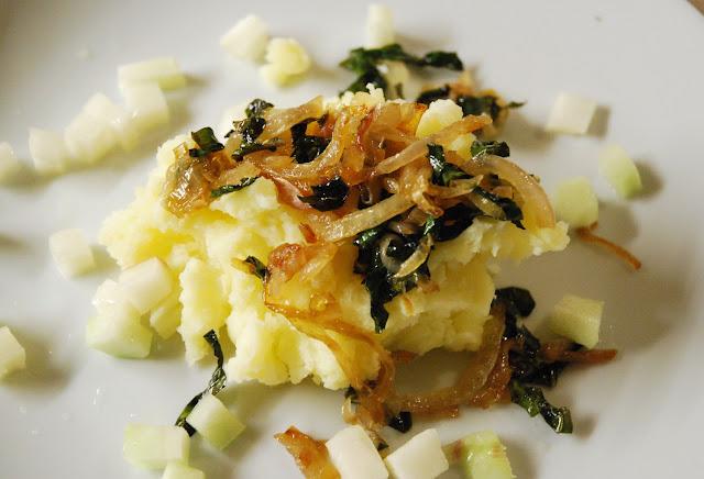 Purée pommes de terre chou rave