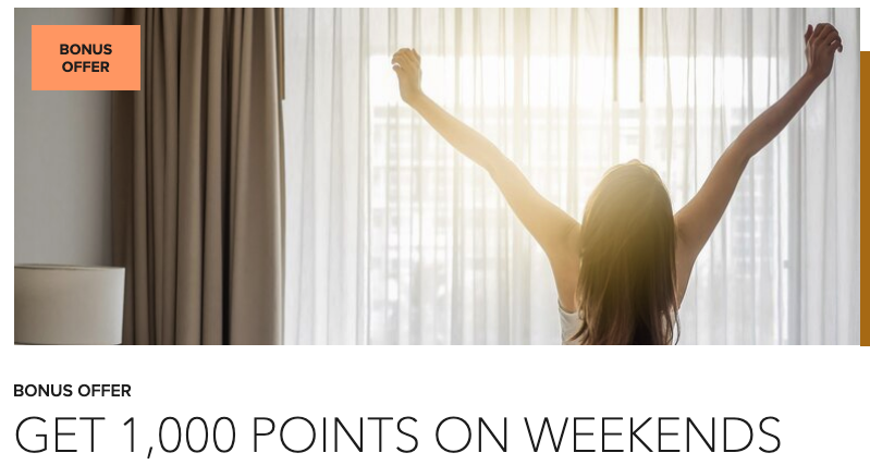 Earn 1,000 bonus points for weekend stays of 2+ nights at the Courtyard Calgary Airport