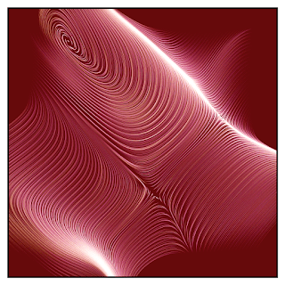 Generative art with many beautiful flow lines.