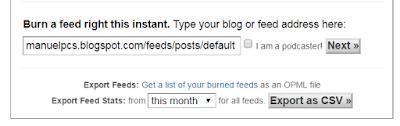 Capturando feed en Blogger