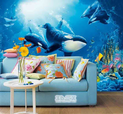 Awesome 3D wallpaper for living room walls 2019 designs