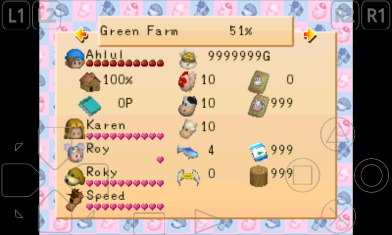 Cara Cheat Game Harvest Moon Back to Nature di ePSXe | Ahlul