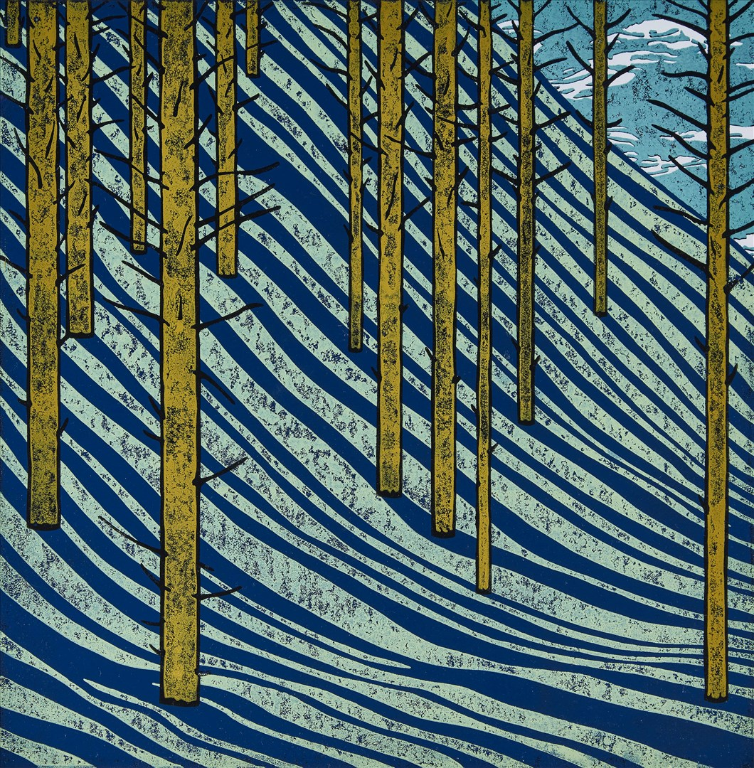 Paul Hogg - Shadows Falling In A Wood 2 (linocut print, edition of 30) - Royal Academy Summer Exhibition 2021 - London lifestyle & culture blog