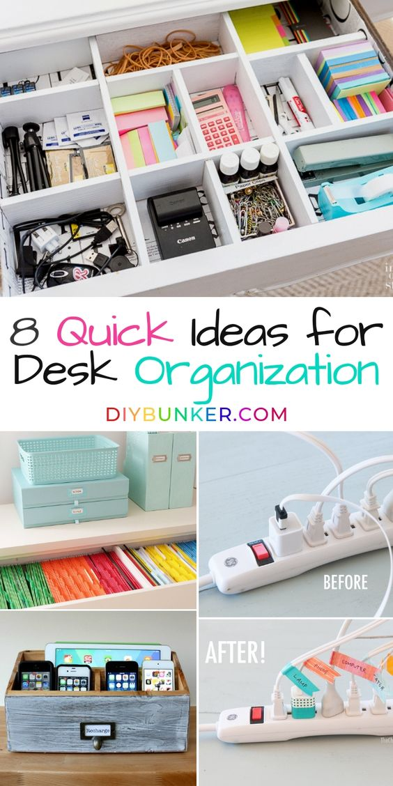 8 Clever Desk Organization Ideas for Your Office