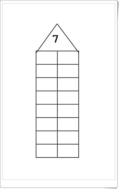 """""""La casita de los números"""" (Cuadernillo de descomposición de números)"""