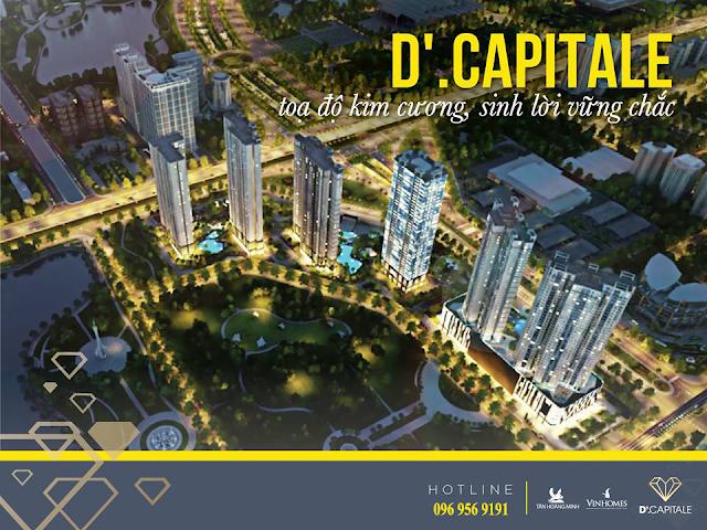Phối cảnh dự án chung cư D'. Capitale Trần Duy Hưng