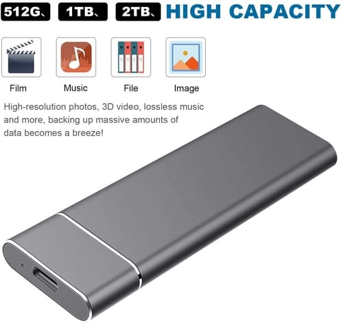 Review Jetzz External Hard Drive USB3.1 1TB 2TB