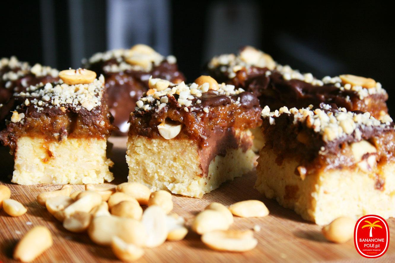 Ciasto/batony Snickers z kaszy jaglanej (bez pieczenia)