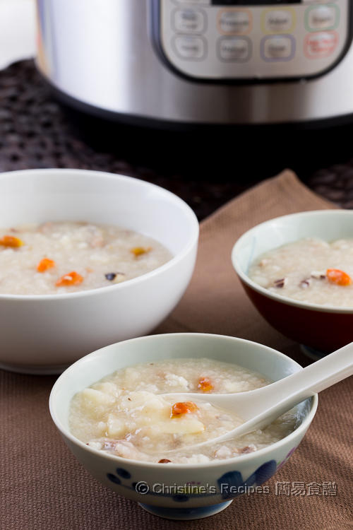 Chinese Yam, Goji and Pork Shin Congee01