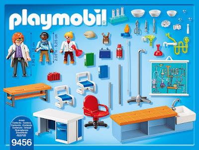 Toys - PLAYMOBIL City Life 9456 Clase de Química  Producto Oficial 2018   Edad: +5 años  COMPRAR ESTE JUGUETE