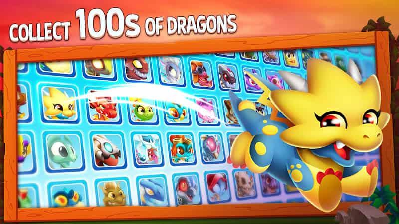 Dragon City v11.4.0 MOD, One Hit - Game thu thập cho điện thoại