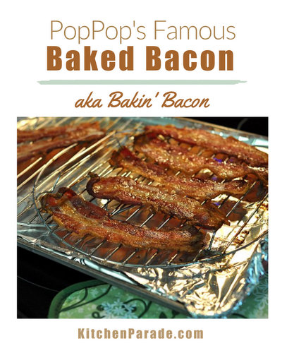 Baked Bacon ♥ KitchenParade.com, how to cook bacon in the oven, so easy, soon you'll be bakin' bacon too!