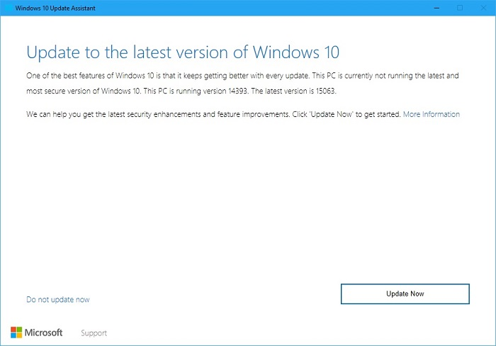 Windows 10 Update Assistant 2