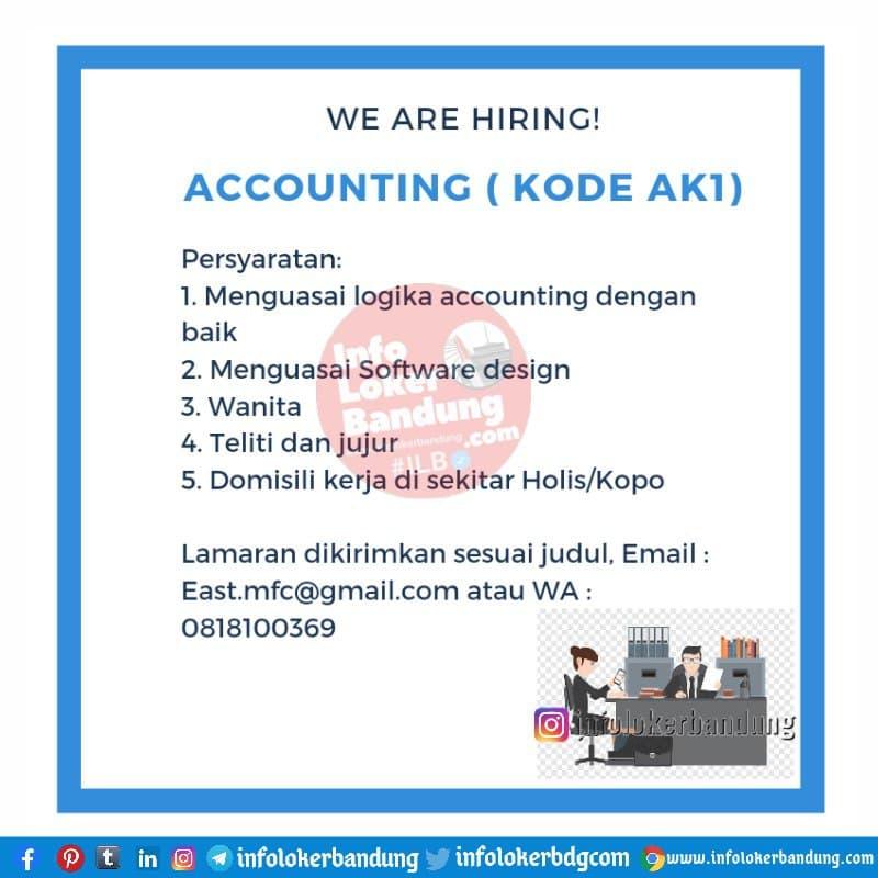 Lowongan Kerja Accounting Mfc Bandung Maret 2021