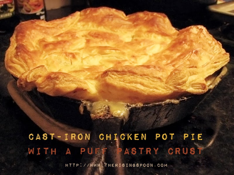 Superior Cast Iron Chicken Pot Pie With Puff Pastry Crust