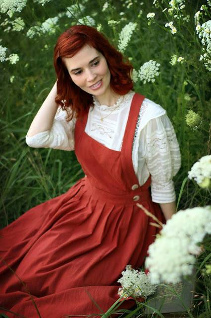 Victorian Style Free People Sydney Blouse Ivory Lace Pinafore Dress Shein