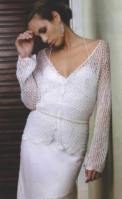 Patrón #1082: Saco Punto de Salomón a Crochet