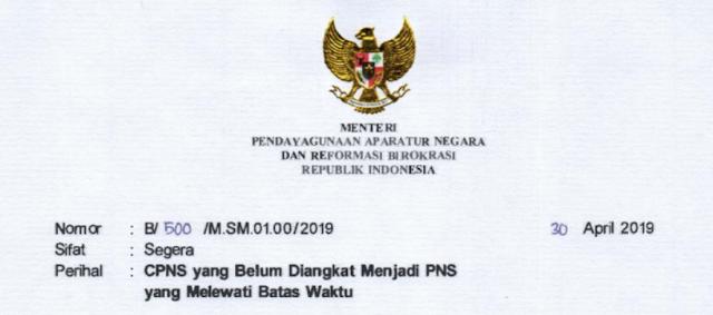 Pengangkatan CPNS Menjadi PNS Tahun 2019