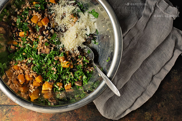 ... Monday: Warm Farro Salad with Roasted Mushrooms and Butternut Squash