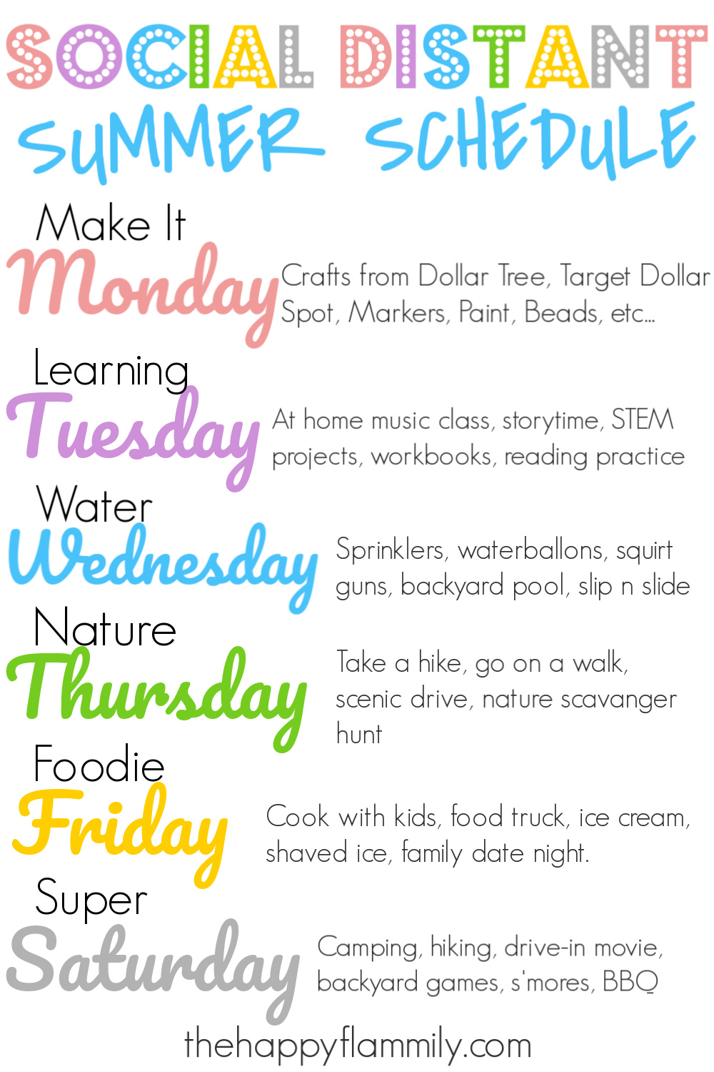 Social distant summer schedule. Summer schedule during quarantine. Things to do in the summer during social distancing. Social distancing activities for kids. Preschool summer schedule. Daily schedule for kids. Child routine schedule. Summer routine for stay at home mom. How to have a relaxing summer with kids. #summer #summerschedule #kids #homeschool #quarantine #socialdistancing #summertime #pandemic #family