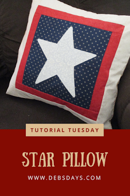 Homemade 4th of July Star Pillow Case Sewing Project
