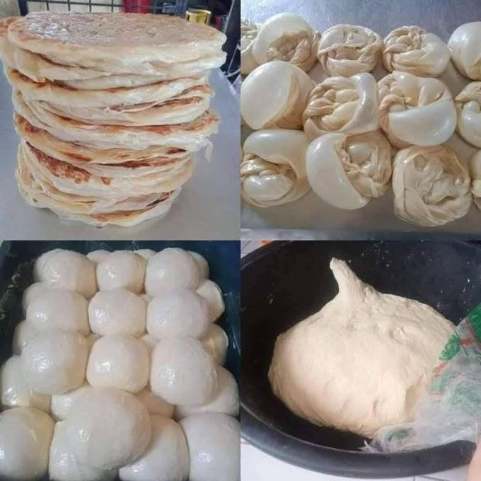 Resepi Roti Canai Prata Mudah