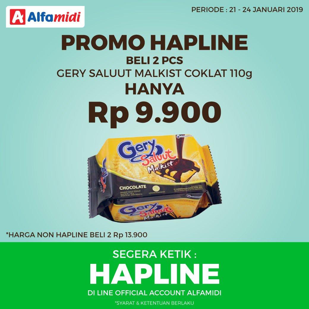 #Alfamidi - #Promo HAPLINE Beli 2PCS Gerry Saluut Coklat Hanya 9Ribuan (s.d 24 Jan 2019)