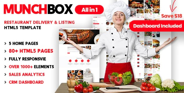 Restaurant Listing and Delivery Services Template