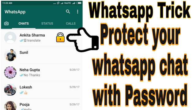 lock whatsapp chat with password