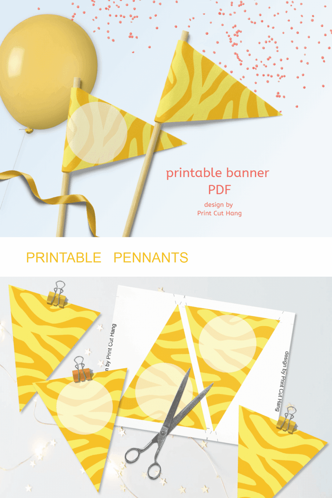 YELLOW ZEBRA PENNANTS
