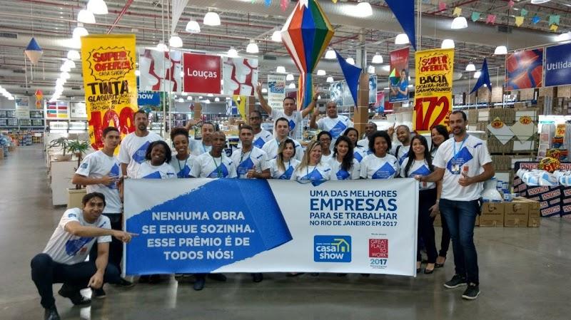 Casa Show é eleita uma das melhores empresas para se trabalhar no Rio de Janeiro