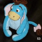 patron gratis burro Igor winnie the pooh amigurumi, free amigurumi pattern donkey Igor winnie the pooh