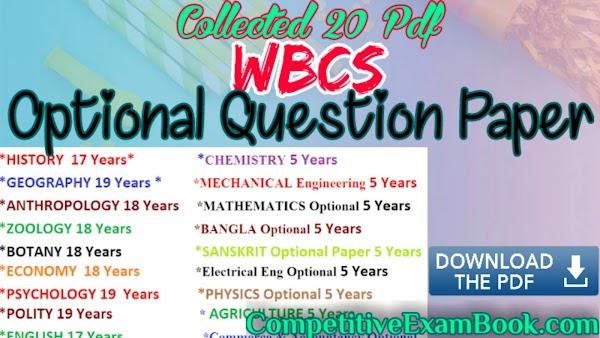 [20 PDF] WBCS Main Examination | Optional Question Paper