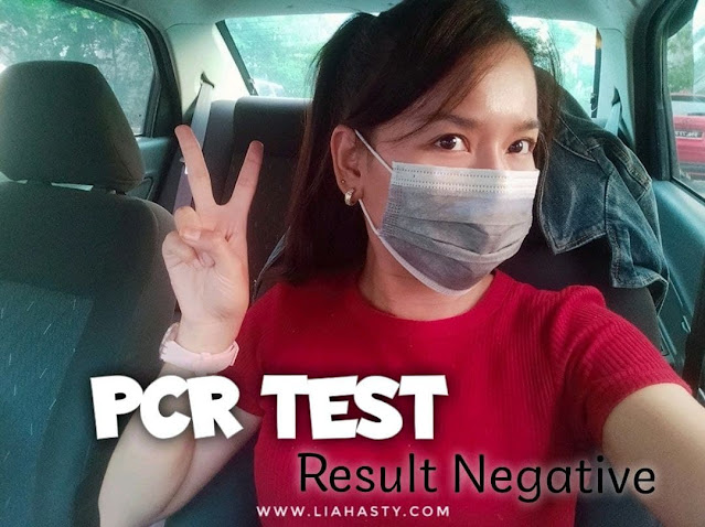 First time buat PCR Test & Result Negatif