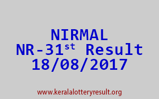 NIRMAL Lottery NR 31 Results 18-8-2017