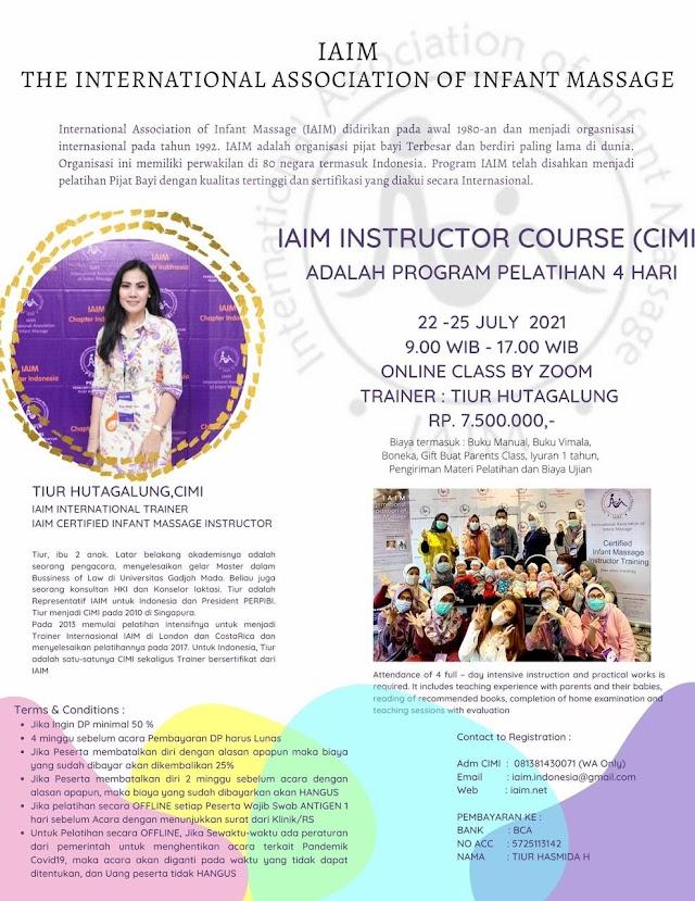 IAIM- The Internasional Association of Infant Massage- Instructor Course (CIMI) ONLINE