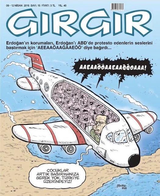 Gırgır Dergisi - 06-12 Nisan 2016 Kapak Karikatürü