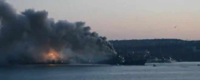 На Росії вибухнув військовий корабель
