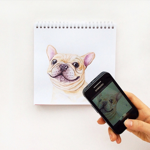 05-Doggie-Selfie-Valerie-Susik-Валерия-Суслопарова-Cats-and-Dogs-Interactive-Animal-Drawings-www-designstack-co