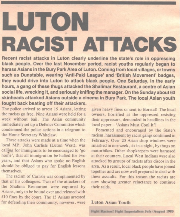 History Is Made At Night Blinded By The Light Memories Of 1980s Luton Racism And Job Cuts