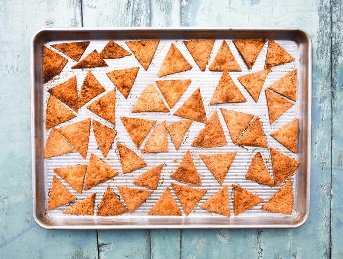 Making Paprika chips - Step 5 - Bake