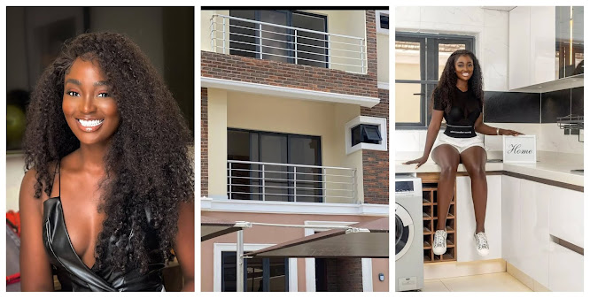 Fashion designer, ToluBally gifts herself a new Mansion on her birthday (Photos)