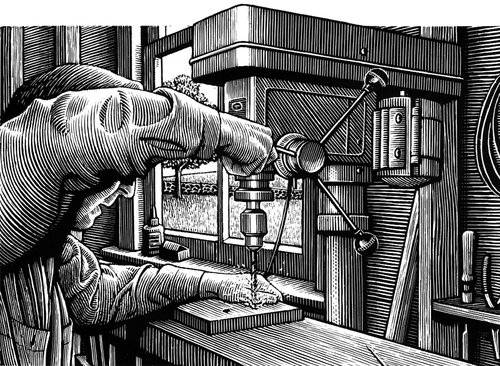 21-Woodwork-Douglas-Smith-Scratchboard-Drawings-Through-Time-and-Lives-www-designstack-co