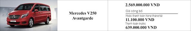 Giá xe Mercedes V250 Avantgarde 2019 tại Mercedes Trường Chinh