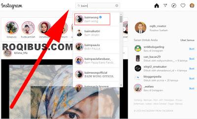 Cara menyalin link akun instagram orang lain di komputer.