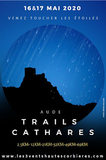 L'aafiche des trails cathares 2020