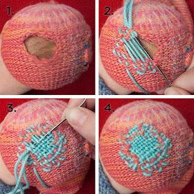 Sweaterdoll Allison Dey Mending Darning Socks
